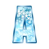 Número A do alfabeto do inverno Fotos de Stock