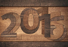 número do ano 2016 novo escrito no fundo de madeira Fotografia de Stock Royalty Free