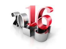Número do ano novo Ove Old 2016 2016 Ilustração do Vetor