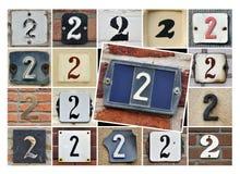 Número dos fotografía de archivo libre de regalías