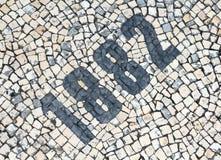 Número dos Cobblestones Fotografia de Stock Royalty Free