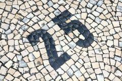 Número dos Cobblestones Imagens de Stock Royalty Free