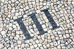 Número dos Cobblestones Foto de Stock Royalty Free