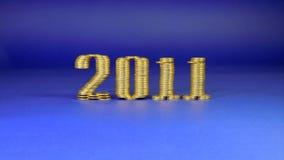 Número dos mil y once pilas puestas de la moneda Imagen de archivo libre de regalías