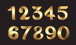 Número dourado Imagens de Stock