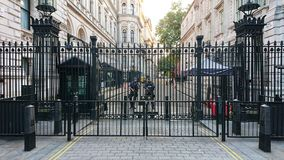 Número 10 Downing Street Londres fotos de archivo