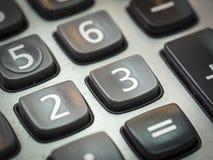 número en el primer de la calculadora Fotos de archivo libres de regalías