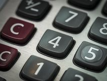 número en el primer de la calculadora Imágenes de archivo libres de regalías