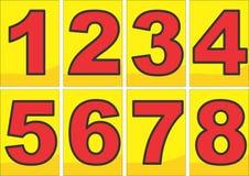 Número en esquema del negro del color rojo fotos de archivo libres de regalías