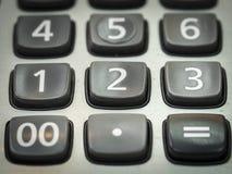 Número en la calculadora Fotografía de archivo