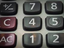 Número en la calculadora Imagenes de archivo