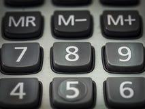Número en la calculadora Imágenes de archivo libres de regalías