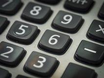 Número en la calculadora Fotos de archivo