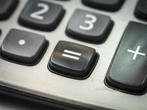 Número en la calculadora Foto de archivo