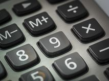 Número en la calculadora Fotografía de archivo libre de regalías