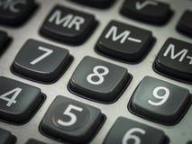 Número en la calculadora Fotos de archivo libres de regalías