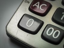 Número en la calculadora Foto de archivo libre de regalías