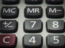 Número en la calculadora Imagen de archivo libre de regalías
