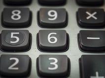 número en la calculadora 6 en cierre Imágenes de archivo libres de regalías