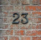 Número 23 en una pared Fotos de archivo