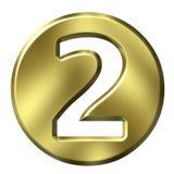 Número enmarcado de oro 2 Foto de archivo libre de regalías