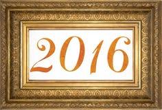 Número 2016 enmarcado - Feliz Año Nuevo Foto de archivo