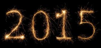 Número 2015 escrito com um chuveirinho Imagens de Stock Royalty Free