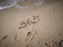 número 365 escrito no Sandy Beach fotografia de stock