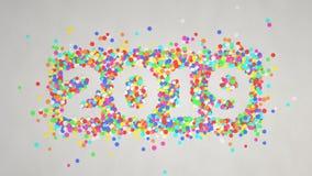 número 2019 feito dos confetes coloridos fotografia de stock