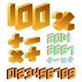 Número isométrico Imagens de Stock
