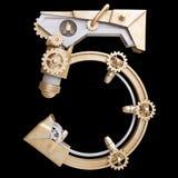 Número mecánico del hierro Imagen de archivo libre de regalías