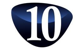 Número moderno 10 Foto de Stock