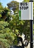 Número 1 - muestra de la parada de autobús Foto de archivo