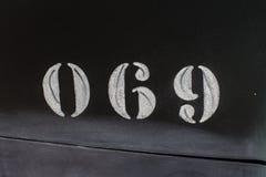 Número 69 na cabine Fotos de Stock