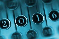 Número 2016 na máquina de escrever do vintage Imagem de Stock