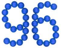 Número 96, noventa y seis, de las bolas decorativas, aisladas en blanco Fotos de archivo libres de regalías