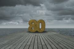Número ochenta foto de archivo libre de regalías