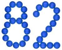 Número 82, ochenta y dos, de las bolas decorativas, aisladas en blanco Imágenes de archivo libres de regalías