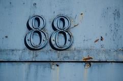 88 - Número ochenta y ocho Fotografía de archivo