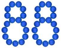 Número 88, ochenta y ocho, de las bolas decorativas, aisladas en whi Fotografía de archivo libre de regalías