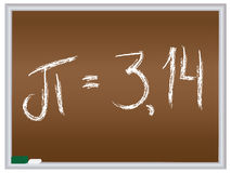 Número pi en la pizarra Imagen de archivo