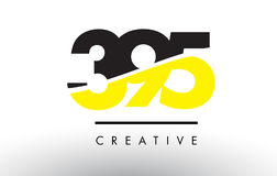 395 número preto e amarelo Logo Design Foto de Stock Royalty Free