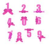 Número rosado Imágenes de archivo libres de regalías