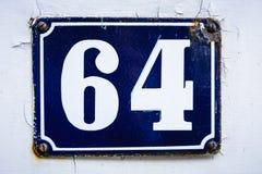 Número sesenta y cuatro Fotografía de archivo libre de regalías