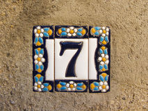 Número sete Imagem de Stock Royalty Free