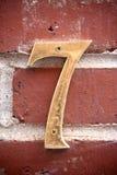 Número siete Imagenes de archivo