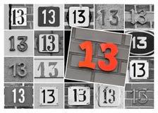 Número trece Foto de archivo