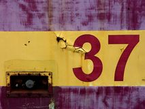 Número treinta y siete Imagenes de archivo