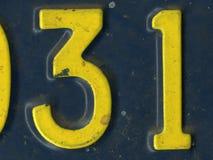 Número trinta um Foto de Stock
