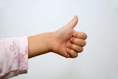 Número um - mão da menina do litle Fotografia de Stock Royalty Free